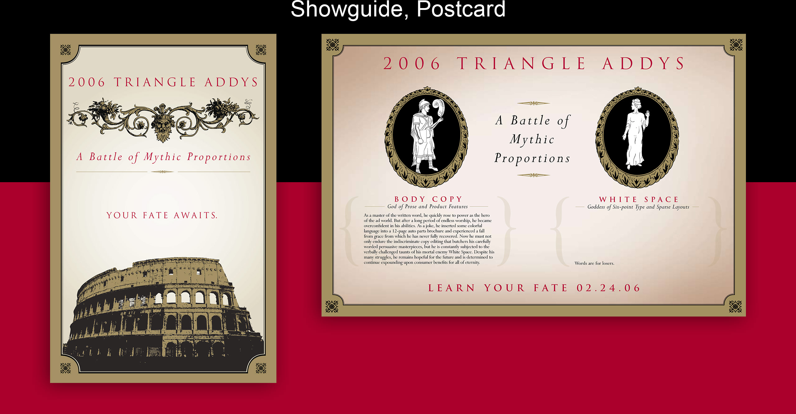 addys showguide and postcard