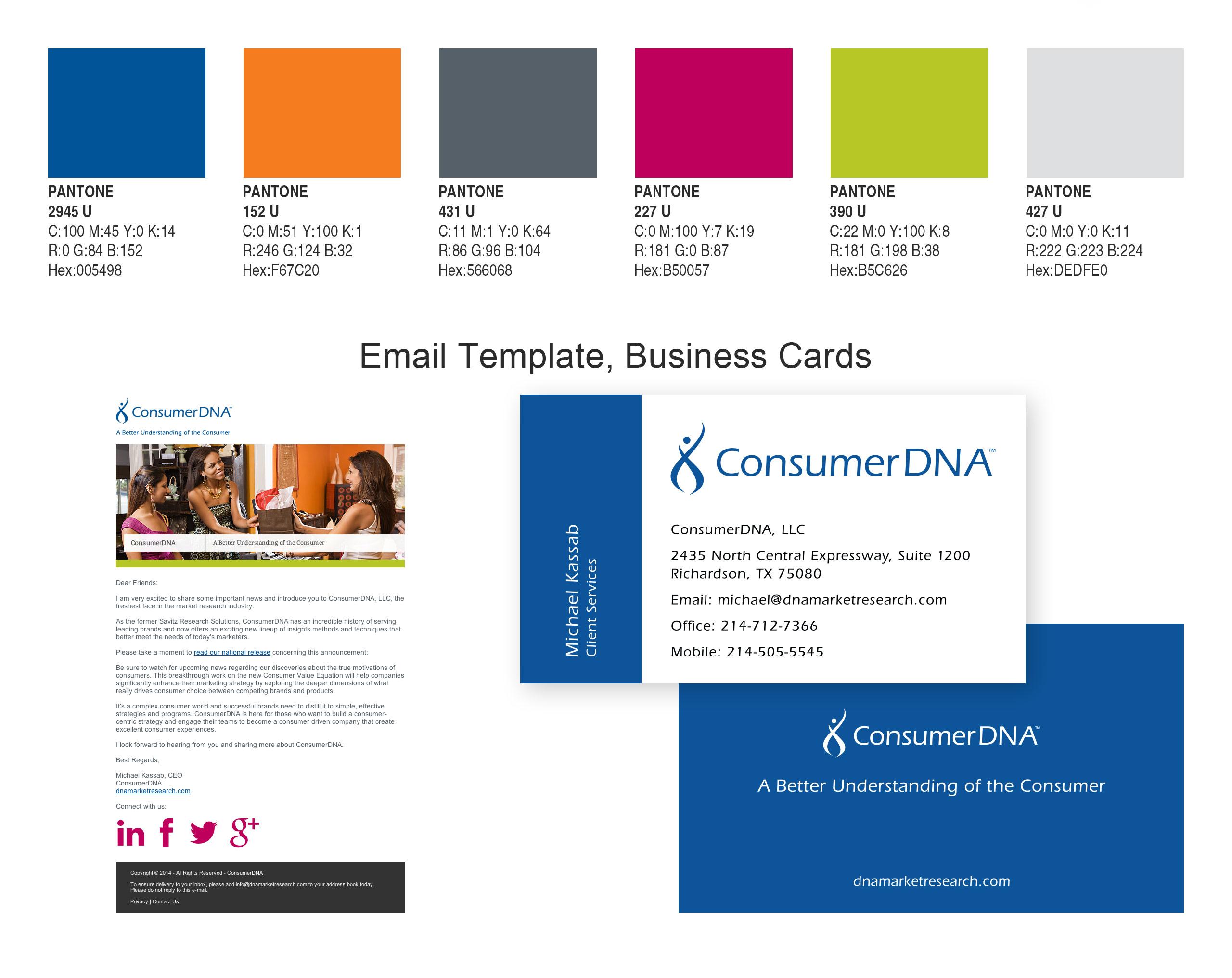 consumerdna business cards