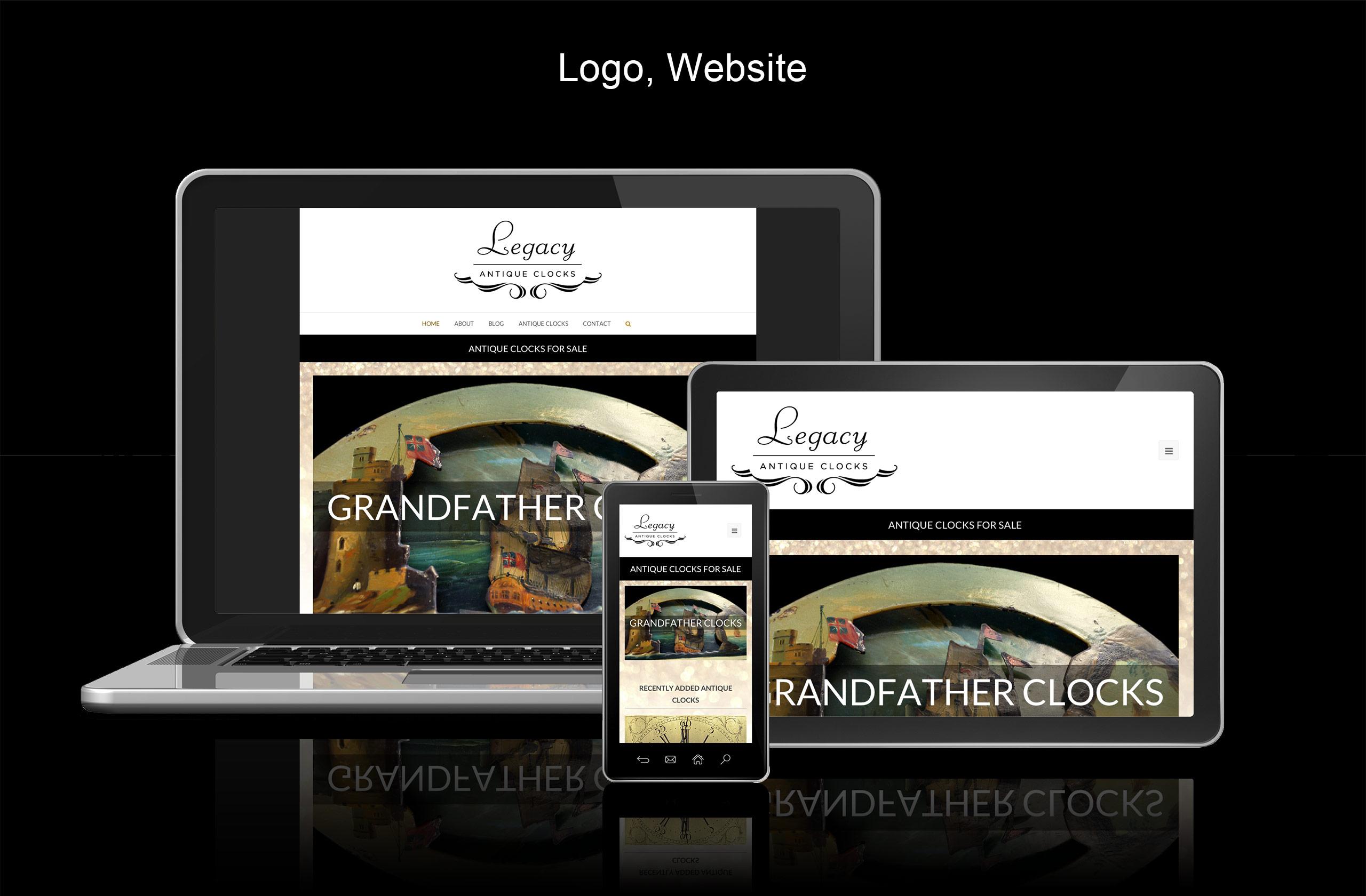 legacy antique clocks website