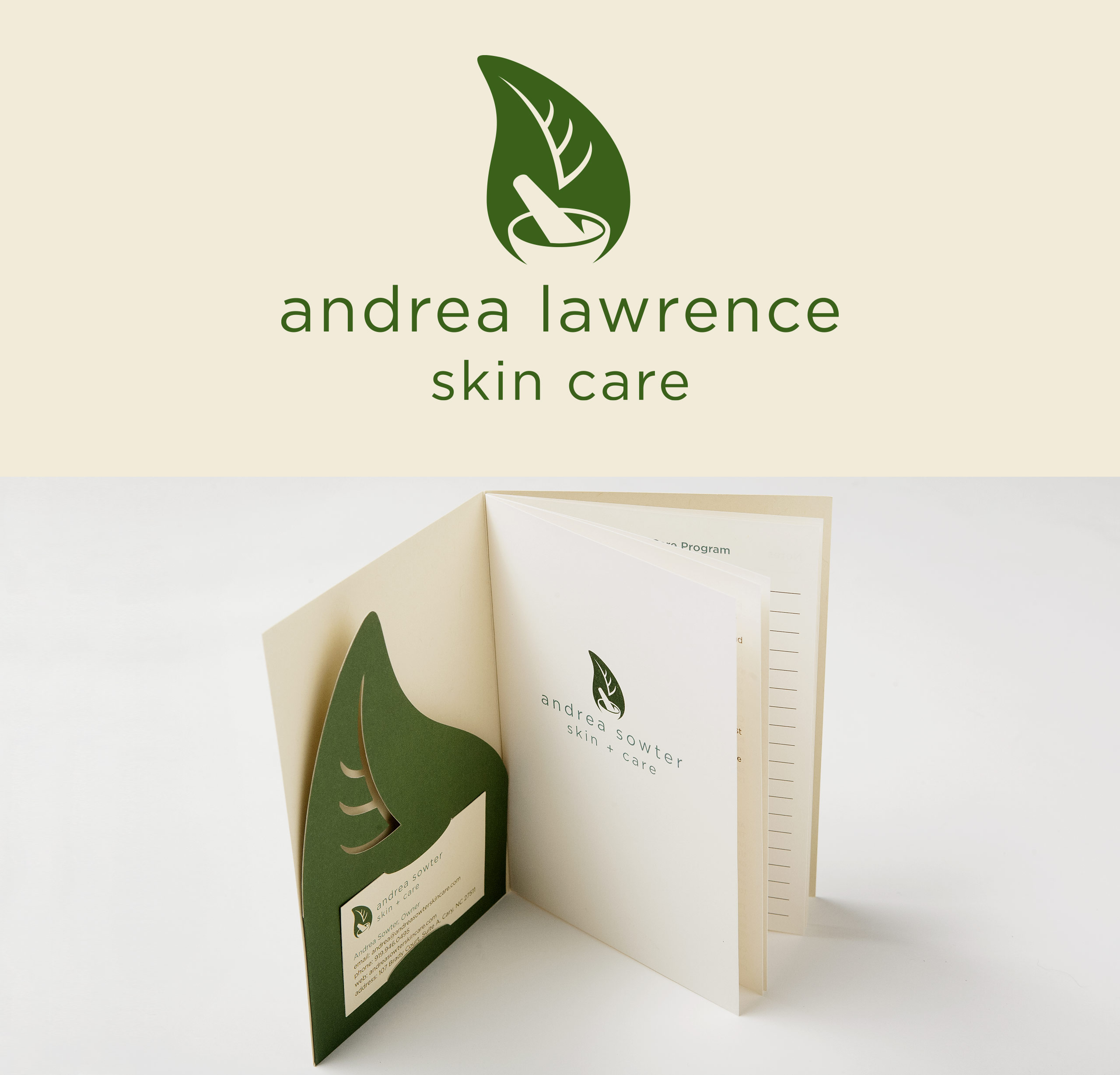 Andrea Lawrence Skin Care Logo Brochure