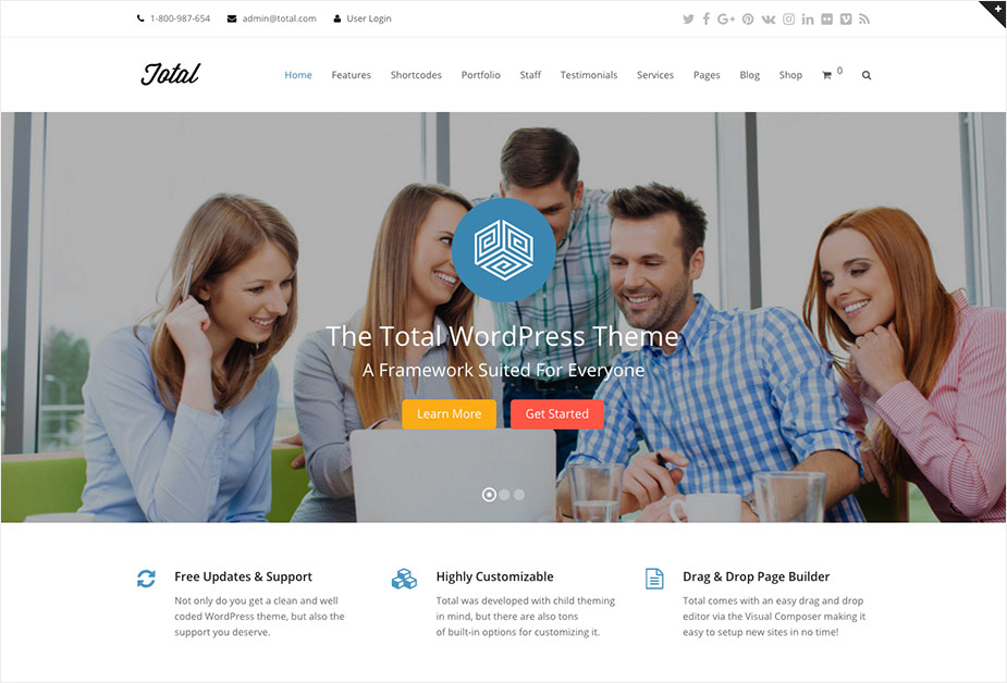 The Total WordPress Theme By WPExplorer